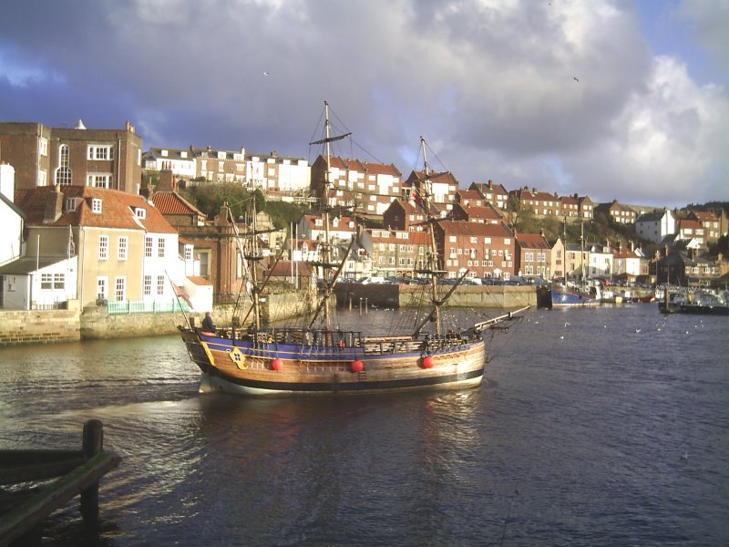 Small Whitby Endearvour in the harbour